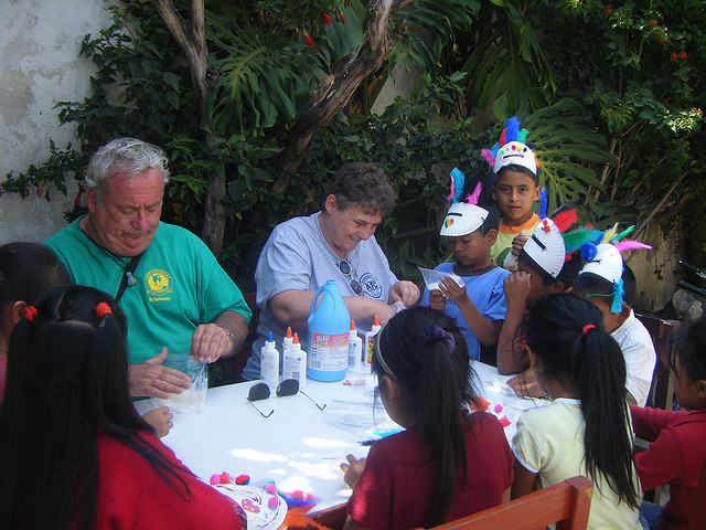 Doing Crafts with the Kids Guatemala