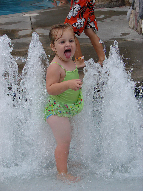 Wilderness Lodge Little Kid Fountains